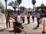 Arrancamos con la segunda etapa de rehabilitación de plazas principales en Xalisco: Nadia