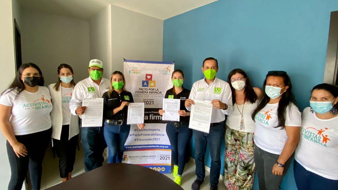 Se comprometen candidatos del Partido Verde Ecologista de México con la niñez Nayarita