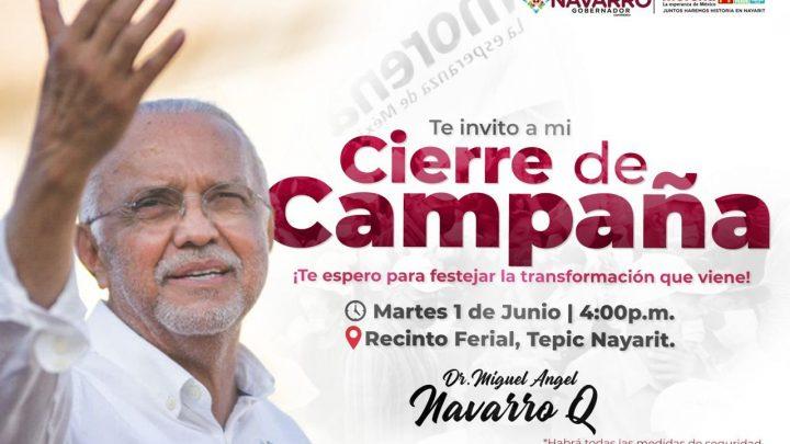 Invita Dr. Navarro a cierre de campaña