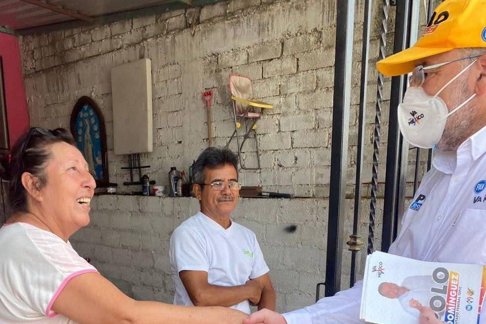 Polo Domínguez agradeció a los tepicenses por acompañarlos durante su campaña