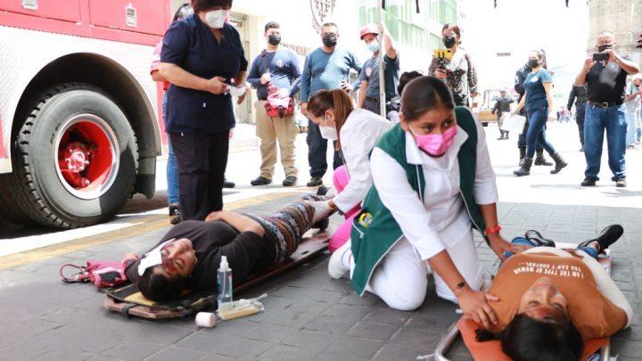 Con éxito el Ayuntamiento de Tepic realizó simulacro sísmico de manera simultánea: Castellón